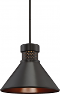 "Dorel LED Bronze & Copper Pendant Light 14""Wx11""H"