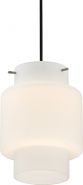 "Del White Glass LED Pendant Light 7""Wx9""H"