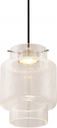 "Del Crackle Glass LED Pendant Light 7""Wx9""H"