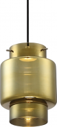 "Del Antique Glass LED Pendant Light 7""Wx9""H"