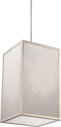 "Crate LED Brushed Nickel Gray Marbled Panel Pendant Light 14""Wx22""H"