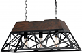 "Bronze Iron Wood Island Light 30""W"
