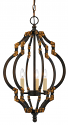 "Black Bronze Antique Gold Iron Chandelier 3 Lights 13""Wx23""H"