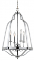 "Melrose Chrome Iron Cage Foyer Chandelier 26""Wx26""H - Sale !"