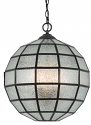 "Seeded Glass Globe Chandelier 16""Wx16""H"