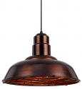 "Rust Warehouse Pendant Light Metal Guard 16""W - Sale !"