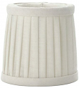 "Smallest Pleated Drum Silk Chandelier Shade Cream 3.5""W"