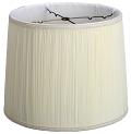 "Silk Mushroom Pleated Drum Lamp Shade Cream, White 8-16""W"