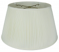 "Side Pleated Silk Floor Lamp Shade Cream or White 19"" Wide"