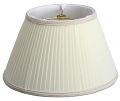 "Pleated Silk Swing Arm Lamp Shade Cream or White 12""W"