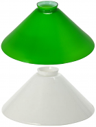 Pool Table Billiard Light Replacement Glass Shade Green, White