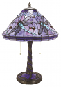 "Purple Dragonfly Tiffany Lamp 22""H"