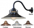 "Railroad Wall Light 4 Colors Indoor-Outdoor 14-18""W"