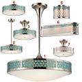 "Raindrop LED Lighting Group Aqua Marine Nickel Glass 7-25""W"