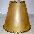 "Rustic Rawhide Leather Lamp Shade 6-10""W"