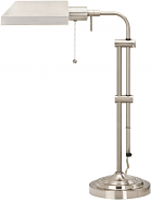 "Brushed Steel Adjustable Pharmacy Desk Lamp 22-26""H - Sale !"