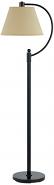 """Bronze Curved Arm Floor Lamp Beige Linen Shade 59""""H - Sale !"""