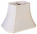 "Cut Corner Bell Silk Rectangle Lamp Shade Cream, White, Beige 8-20""W"