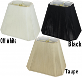 "Rectangle Cut Corner String Lamp Shade Off White, Taupe, Black 8-20""W"