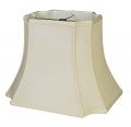 "Rectangle Inverted Cut Corner Silk Lamp Shade Cream, White 13-19""W"