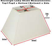 Rectangle Lamp Shade Measurements Explained
