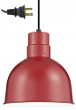 "Red Dome Industrial Plug In Pendant Light 10""W"