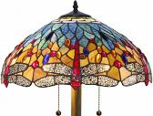 "Red Dragonflies Tiffany Floor Lamp 58""H"