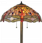 "Dragonfly Tiffany Floor Lamp 60""H"