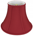 "Red Silk Lamp Shade 10-18""W"