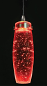 "Red Tapered Crystal Bubble Glass LED Mini Pendant Light 2.25""Wx7"" - Sale !"