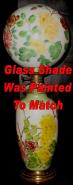 Hand Painted Banquet Lamp Ball Globe Glass Shade