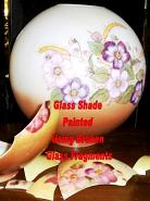 Ball Globe Glass Shade Painted Using Broken Glass