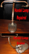 Handel Desk Lamp Base Before & After Repair