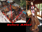 Italian Statue Repair Before & After