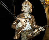 Boy Statue Violin and New Bow Completely Restored
