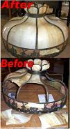 "24"" Windmills Slag Lamp Shade Repair"