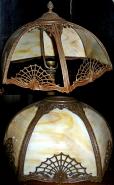 Spider Web Design Slag Lampshade Repair