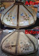 Reverse Painted Slag Shade Repair