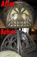 Slag Shade Frame Repair & Glass Replacement