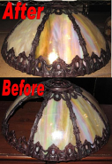 Iridescent Slag Lamp Shade Glass Replacement