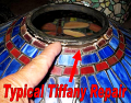 Tiffany Lamp Shade Top Ring Separates From Glass