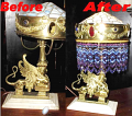 Poseidon Abducts Astypalaia of Greek Mythology Valuable Tiffany Lamp Restoration