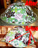 Large Floral Tiffany Shade Repair
