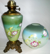 Antique Oil Lamp Glass Shade Repair
