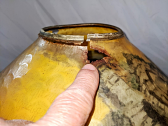 Reverse Painted Shade Repair