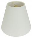 "Rolled Edge Empire Homespun Linen Lamp Shade 8-20""W"