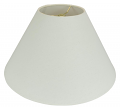 "Rolled Edge Coolie Homespun Linen Lamp Shade 16-24""W"