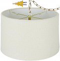 Rolled Edge Linen Drum Swag Lamp 12-18""