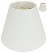 "Rolled Edge Empire Homespun Linen Lamp Shade Cream, Beige 8-20""W"