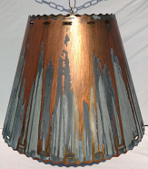 Southwestern Metal Lamp Shade Rust Patina